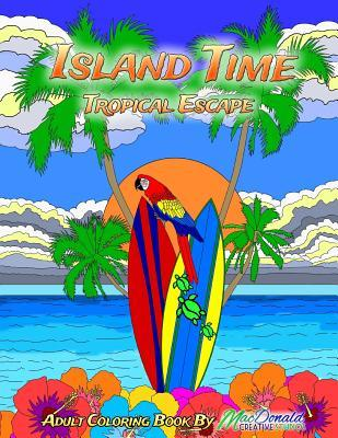 Island Time Adult Coloring Book