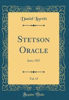 Stetson Oracle, Vol. 15