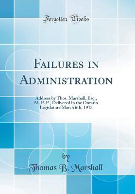 Failures in Administration