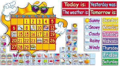 Super Sunshine! Calendar Bulletin Board