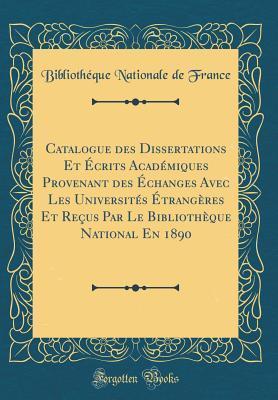 Catalogue des Disser...