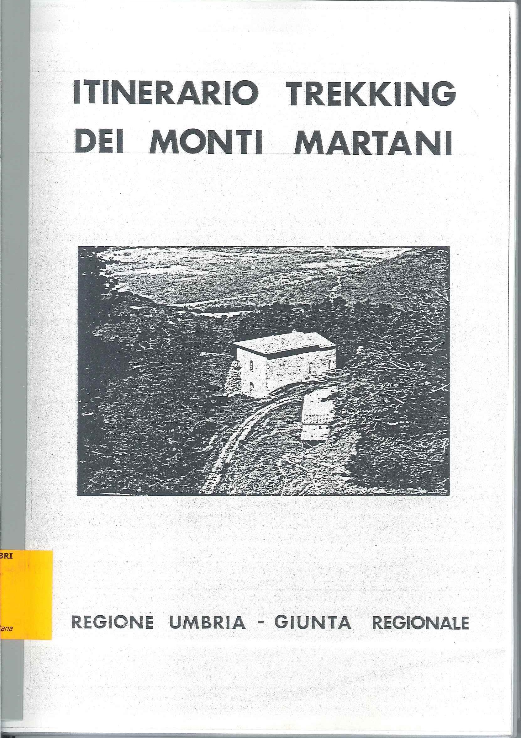 Itinerario Trekking dei Monti Martani