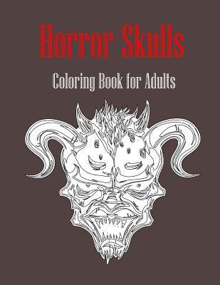Horror Skulls Adult Coloring Book