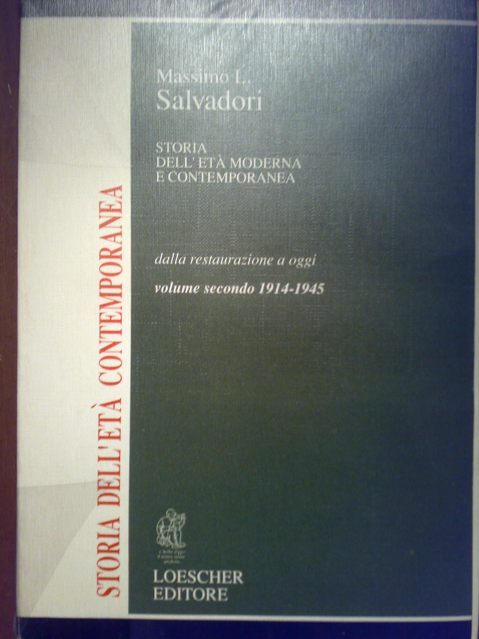 Storia dell'età moderna e contemporanea - vol. II