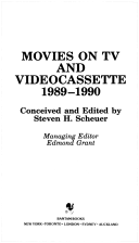 Movies on TV and Video Cassette 1989-1990