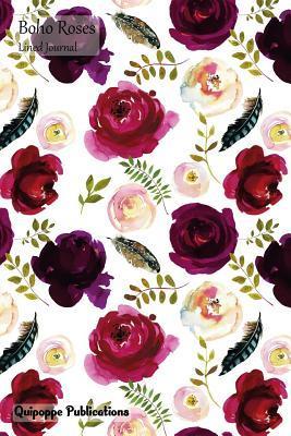 Boho Roses Lined Journal