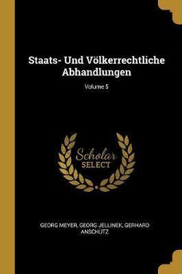 Staats- Und Völkerr...