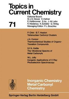 Inorganic Chemistry Metal Carbonyl Chemistry