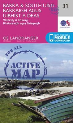 Landranger Active (31) Barra & South Uist, Vatersay & Eriskay