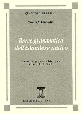 Breve grammatica dell'Islandese antico