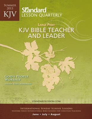 KJV Bible Teacher & Leader Large Print-Summer 2013