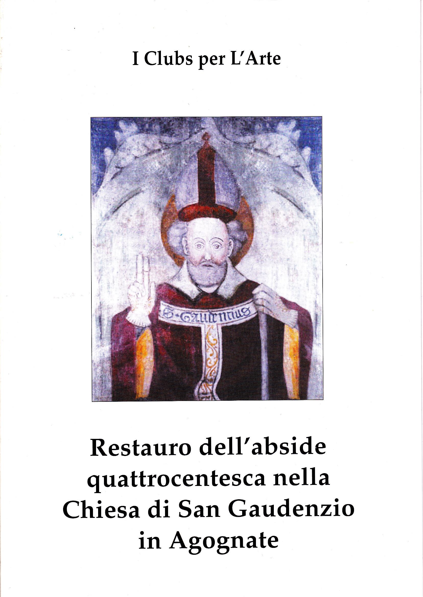 Restauro dell'abside quattrocentesca nella Chiesa di San Gaudenzio in Agognate