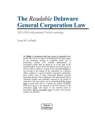 The Readable Delaware General Corporation Law 2015-2016