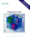 OSF/Motif programmer's guide