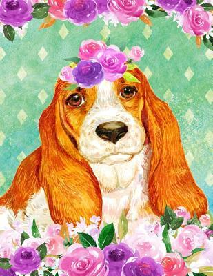 My Big Fat Bullet Journal For Dog Lovers Basset Hound In Flowers