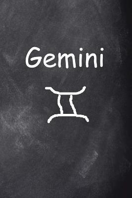 Gemini Symbol Zodiac Sign Horoscope Chalkboard Design Journal