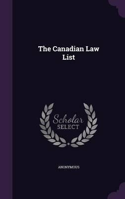 The Canadian Law List