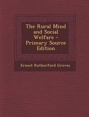 The Rural Mind and Social Welfare
