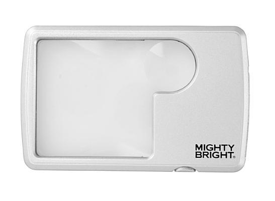 Lighted Wallet Magnifier, Silver