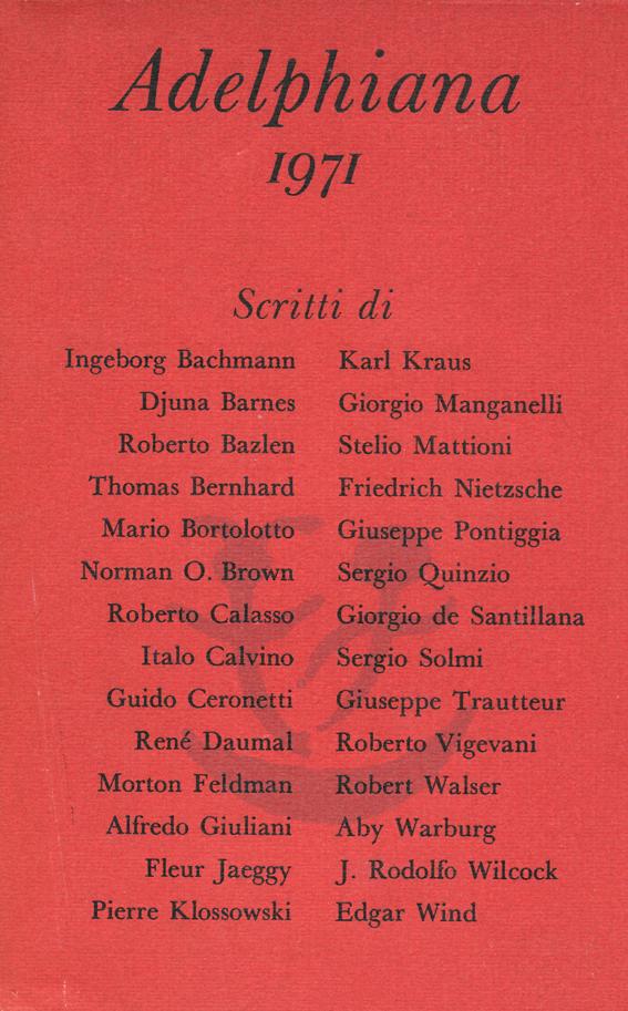 Adelphiana 1971