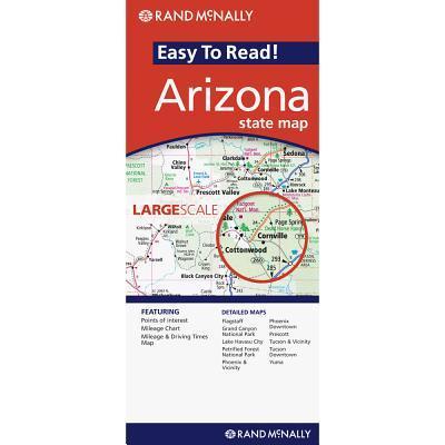 Rand McNally Easy to Read! Arizona State Map
