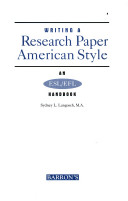 Writing a research paper American style
