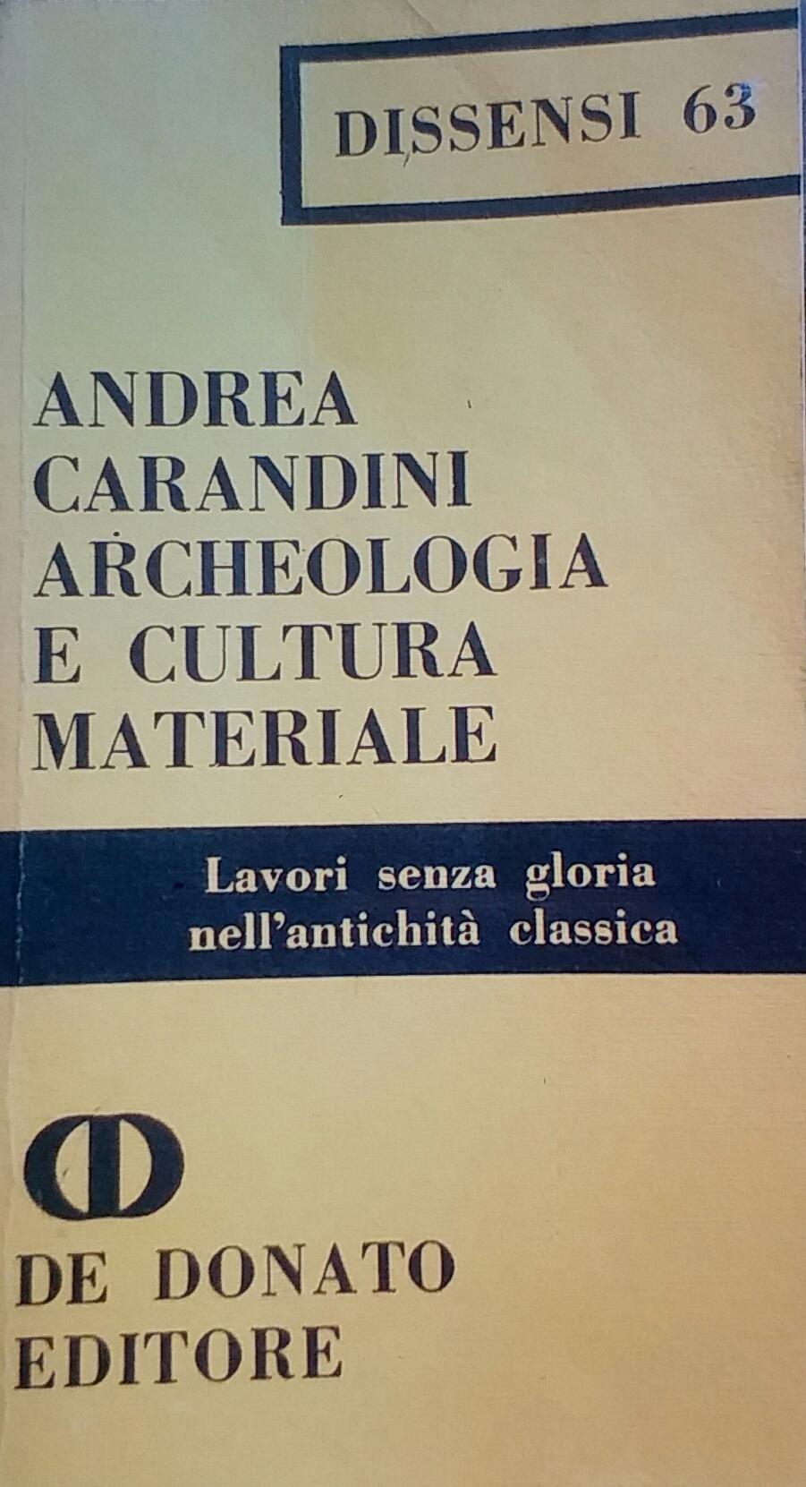 Archeologia e cultura materiale