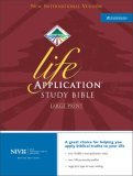 NIV Life Application Study Bible, Large Print, Indexed