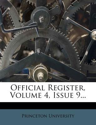 Official Register, Volume 4, Issue 9.
