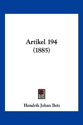 Artikel 194 (1885)
