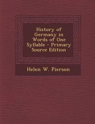 History of Germany in Words of One Syllable