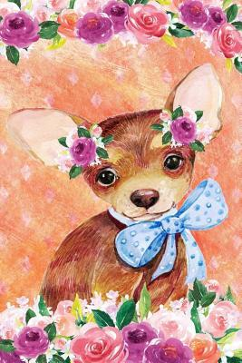 Journal Notebook For Dog Lovers Chihuahua Puppy In Flowers 5