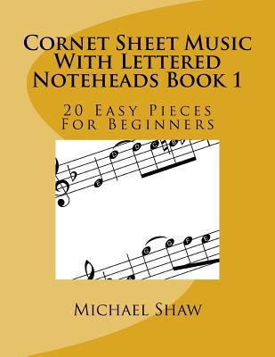 Cornet Sheet Music With Lettered Noteheads