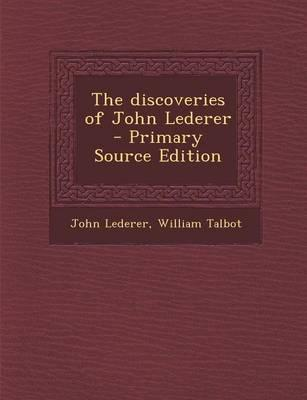 The Discoveries of John Lederer
