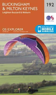 OS Explorer Map (192) Buckingham and Milton Keynes
