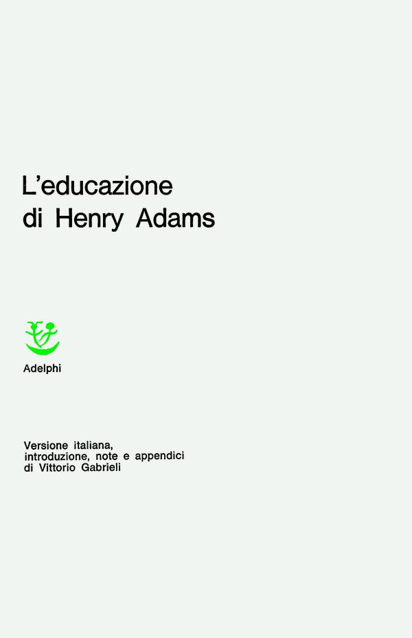 L'educazione di Henry Adams