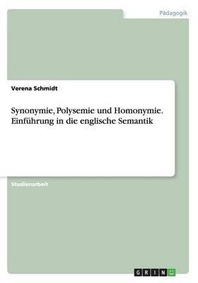 Synonymie, Polysemie...