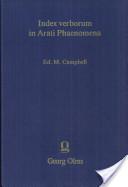 Index Verborum in Arati Phaenoma