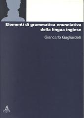 Elementi di grammatica enunciativa della lingua inglese