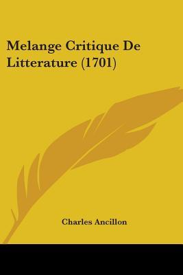 Melange Critique De Litterature