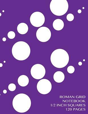 Roman Grid Notebook 1/2 inch squares 120 pages