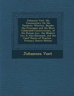 Johannes Voet, His C...