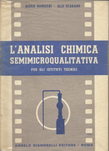L'analisi chimica semimicroqualitativa