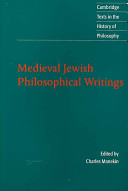 Medieval Jewish Philosophical Writings