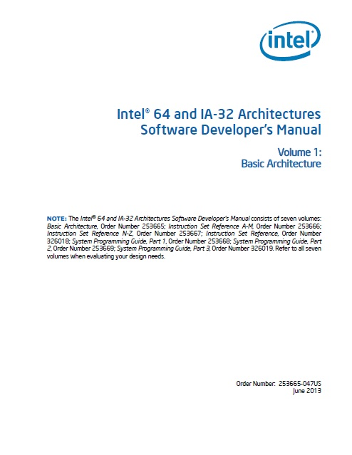 Intel® 64 and IA-32 Architectures Software Developer's Manual, Vol. 1