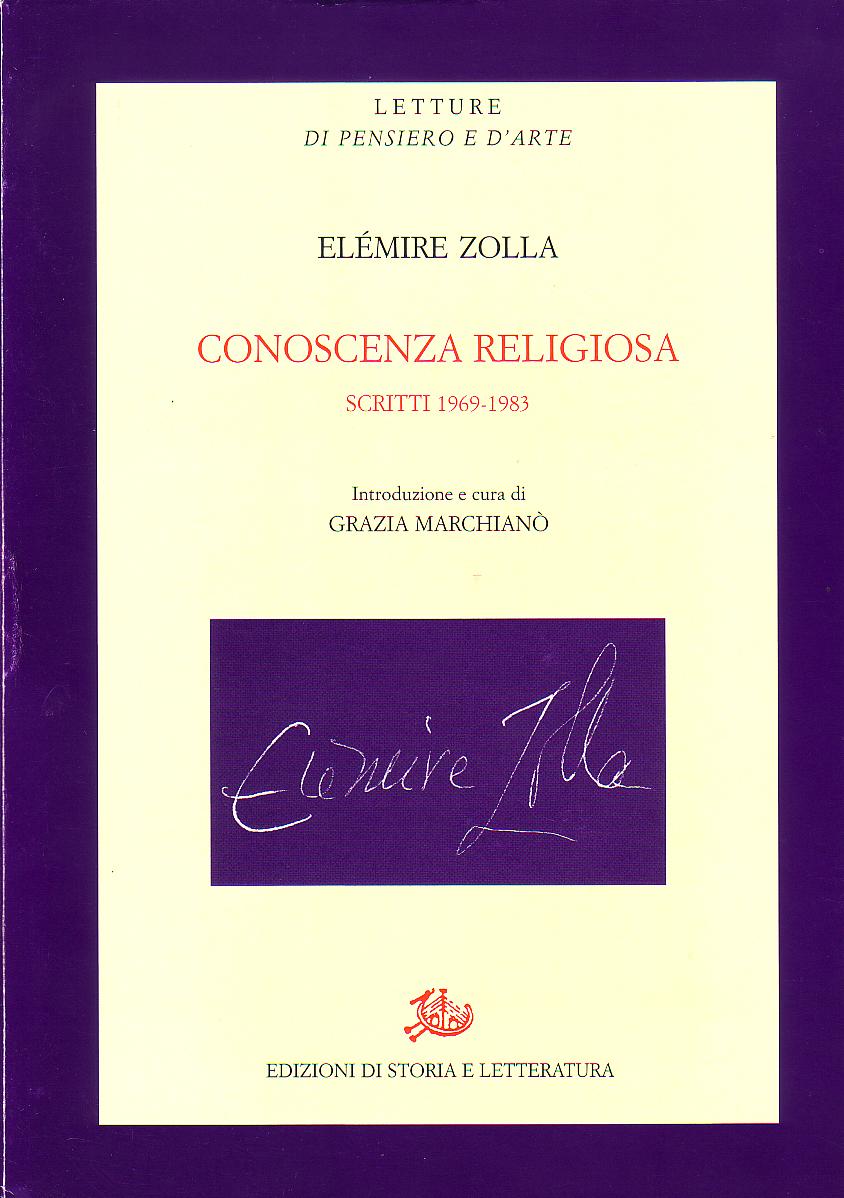 Conoscenza religiosa (scritti 19691983)