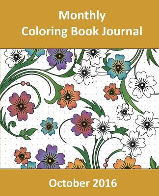 Monthly Coloring Book Journal