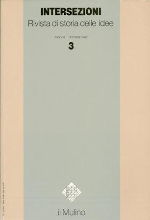Intersezioni 3 Anno XII Dicembre 1992