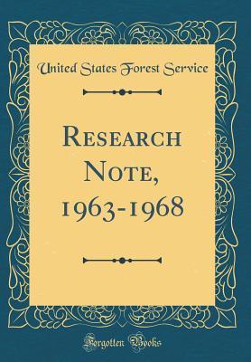 Research Note, 1963-1968 (Classic Reprint)