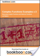 Complex Functions Examples c-3